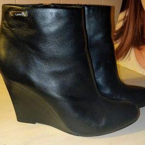 Calvin Klein wedge boots